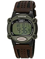 Timex Men's T48042 Expedition Digital Chrono Brown Nylon Strap Watch