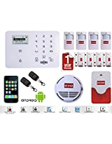 """Wireless LCD GSM SMS Home Security Burglar House Fire Alarm System Auto Dialer """