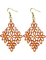 Designer's Collection Paper Quilling Ear Rings Festive Collection for Women-DSERF002