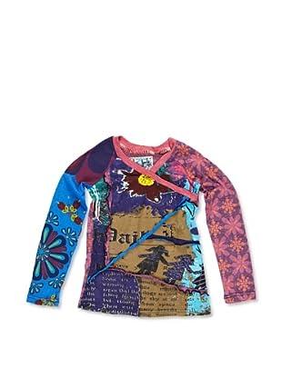 Desigual Camiseta Rubidio (Fucsia / Azul)