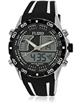Dmf-005-Wh01 Black/Black Analog & Digital Watch Flud