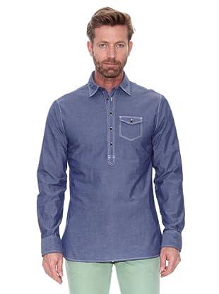 Cortefiel Camisa Polo Chambray (Azul)
