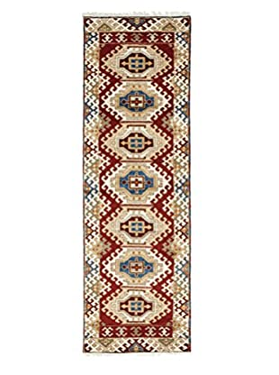 Darya Rugs Kazak Oriental Rug, Red, 2' 1