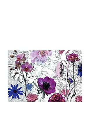 Brewster Home Purple Floral Wall Mural