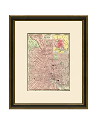 Antique Lithographic Map of Baltimore, 1886-1899
