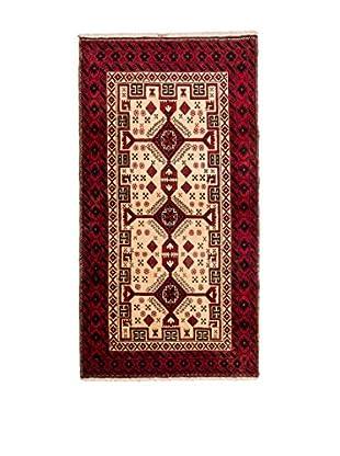 Navaei & Co Alfombra Persian Mashad Rojo/Marfil 192 X 94 cm