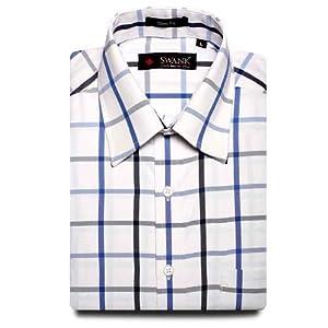 Swank Mens Formal Shirt English Color Checks Shirt