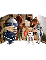 """Star Wars Droid Jumbo Kenner Action Figure Set with Backdrop by Gentle Giant (3-Pack), 12"""""""