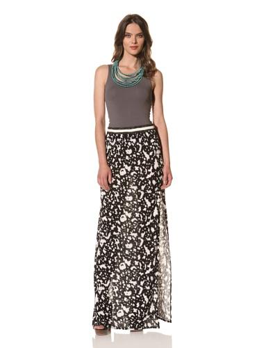 Cut25 Women's Patch Jersey Skirt (Bone/Jet Multi)