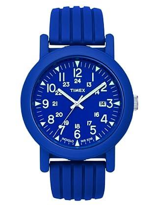 Timex T2N717. Reloj de Señora movimiento de cuarzo con correa de caucho Azul