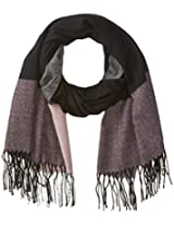 RAMPAGE Women's Color-Block Convertible Blanket Wrap and Cape