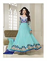 11012_Kumud Latest Designer cyan Heavy Embroidered Anarkali suit
