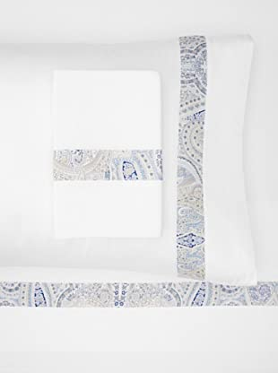 Errebicasa Panamera Sheet Set (White/Navy)