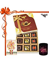 9pc Ultimate Collection Of Chocolate With Mug And Card - Chocholik Belgium Chocolates