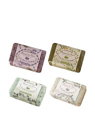 Panier des Sens Amazing Exfoliating: Lavender; Verbena; Sage; Olive, 4 Pack