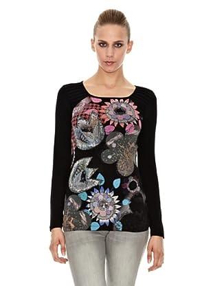 Sidecar Camiseta Pastora (Negro)