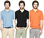 Polo T-Shirts Pack Of 3 SKY,Black,Orange