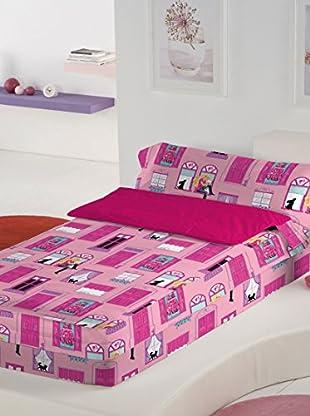 Euromoda Saco Nórdico sin Relleno Barbie Mansión (Rosa / Fucsia)