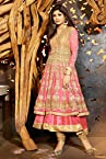 Bollywood Shilpa Shetty Faux Georgette Suit In Beige and Salmon Colour 6011