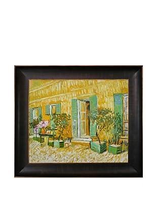 Vincent Van Gogh Exterior of a Restaurant at Asnieres Framed Oil Painting