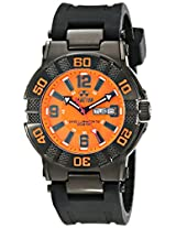 REACTOR Men's 44008 MX Orange Dial Watch (Amazon Exclusive)