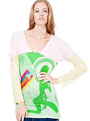 Custo Camiseta Autumn Phoning (Multicolor)