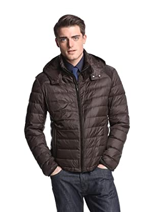 Brioni Men's Puffer Jacket with Hood (Solid Brown)