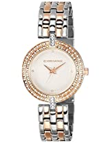 Giordano Analog White Dial Women's Watch - F4002-22