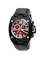 Adee Kaye Mens AK7982-M-RED Swiss ISA Quartz Chronograph Movement