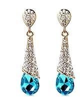 Aaishwarya Dazzling Blue Crystal Drop Earrings