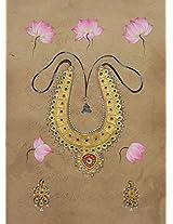 Beautiful necklace on silk