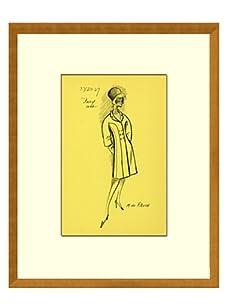 Vintage Women's M De Rauch Fashion Sketch c.1968