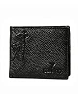 Calvino Classy Embossed Textured Black Men's Wallet
