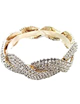 Aria Party wear stylish shiny rhinestone gold plated pc bangles for women me2399 new