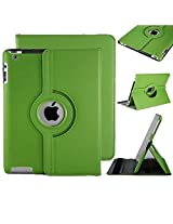 iPad 2/3/4 Case, 360°Degree Rotating Stand Case Cover with Auto Sleep / Wake Feature for iPad 2/3/4(9 Colors)this case is for iPad 2/3/4 (Green)
