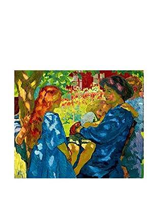 Legendarte Lienzo Ritratto Di Famiglia Sotto Il Sambuco 50X60 Cm multicolor