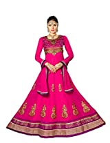 Styliner lovely floor lenght embroidery suit