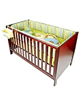 Cots & More Toddler Crib Plus Bed Elly - Cherry