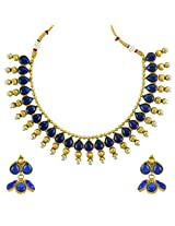 Ethnic Indian Bollywood Jewelry Set Traditional Fashion Necklace SetABNE0336BL