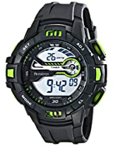 Armitron Sport Men's 40/8338GRN Green Accented Digital Chronograph Black Resin Strap Watch