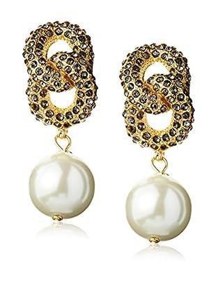 Fragments Pavé Link Pearl Earrings