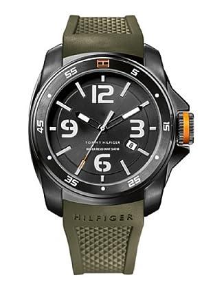 Tommy Hilfiger 1790772 - Reloj de caballero de cuarzo, correa de caucho color verde