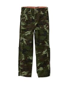 Kapital K Boy's Vintage Camo Cargo Pants (Army)