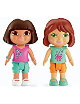 Fisher-Price Dora The Explorer Playtime Together Dora and Me Play Dates : Dora and Red Hair Friend