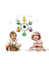 UberLyfe Wild Ride with Animals Wall Clock cum Wall Sticker for Home Décor