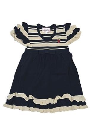 My Doll Kleid Maglia Rouche (Blau/Weiß)