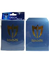 (5) Max Protection Metallic Blue Trading Card Deck Boxes Holds 70 80 Sleeved Cards #Bcw Mp 100 L Daoc
