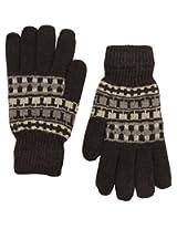 Romano Men's Brown Woollen Winter Gloves
