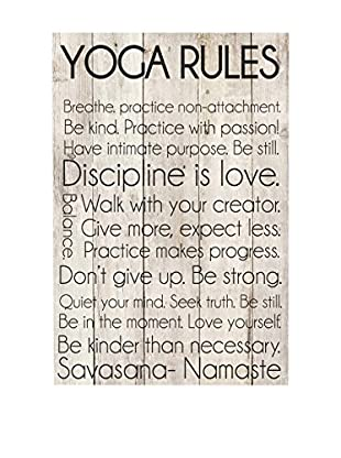 Surdic Panel de Madera Yoga Rules Multicolor
