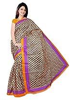 Bhagalpuri Silk Printed Yellow Bhagalpuri Silk Saree - SIXVP03C